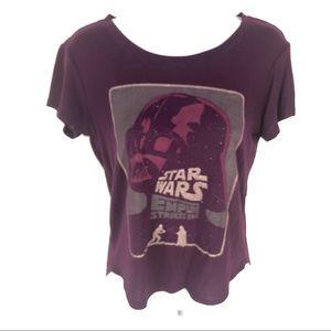Star Wars Womens Purple T-Shirt XS